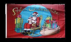 Flagge Weihnachtsmann Frohe Weihnachten - 90 x 150 cm