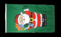 Flagge Weihnachtsmann mit Geschenken - 90 x 150 cm