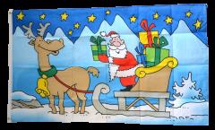 Flagge Weihnachtsmann mit Schlitten