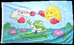 Flagge Wetterfrosch