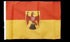 Flagge mit Hohlsaum Österreich Burgenland