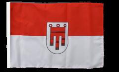 Flagge mit Hohlsaum Österreich Vorarlberg