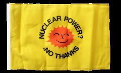 Flagge Atomkraft Nein Danke englisch - Nuclear Power No Thanks - 30 x 45 cm
