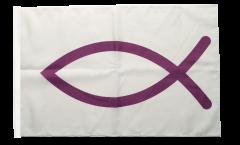 Flagge Christenfisch Ichthys-Symbol - 30 x 45 cm