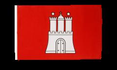 Flagge mit Hohlsaum Deutschland Hamburg