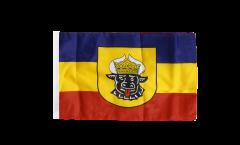 Flagge mit Hohlsaum Deutschland Mecklenburg alt