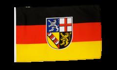 Flagge mit Hohlsaum Deutschland Saarland