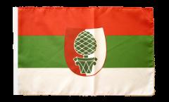Flagge Deutschland Stadt Augsburg - 30 x 45 cm