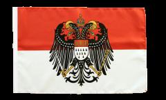 Flagge mit Hohlsaum Deutschland Stadt Köln mit großem Wappen