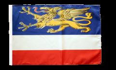 Flagge Deutschland Stadt Rostock - 30 x 45 cm