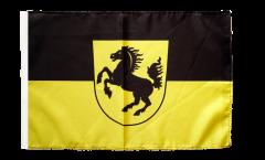 Flagge Deutschland Stadt Stuttgart - 30 x 45 cm
