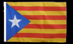 Flagge mit Hohlsaum Estelada blava Katalonien