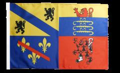 Flagge mit Hohlsaum Frankreich Ain
