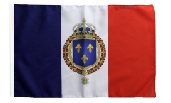 Flagge Frankreich mit königlichem Wappen - 30 x 45 cm