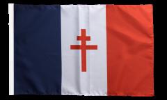 Flagge mit Hohlsaum Frankreich mit Lothringerkreuz