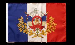 Flagge Frankreich mit Wappen - 30 x 45 cm