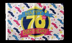 Flagge Happy Birthday 70 - 30 x 45 cm