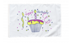 Flagge Happy Birthday Torte - 30 x 45 cm