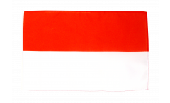 Flagge mit Hohlsaum Indonesien