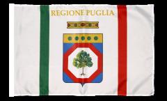 Flagge mit Hohlsaum Italien Apulien