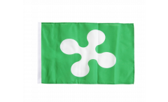 Flagge mit Hohlsaum Italien Lombardei