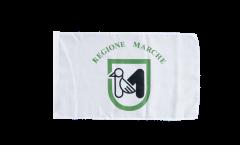 Flagge mit Hohlsaum Italien Marken