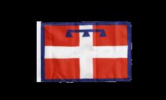 Flagge mit Hohlsaum Italien Piemont
