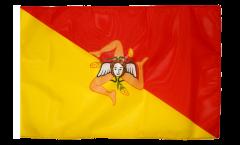 Flagge mit Hohlsaum Italien Sizilien