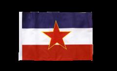 Flagge mit Hohlsaum Jugoslawien alt