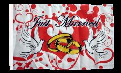 Flagge Just Married Tauben - 30 x 45 cm