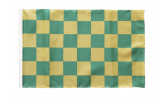 Flagge Karo Grün-Gelb - 30 x 45 cm