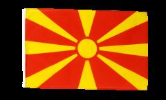 Flagge mit Hohlsaum Nordmazedonien