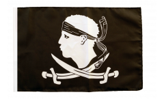 Flagge mit Hohlsaum Pirat Korsika