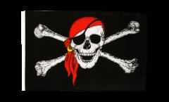 Flagge Pirat mit Kopftuch - 30 x 45 cm