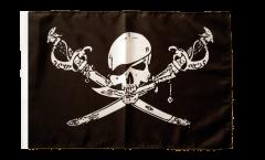 Flagge Pirat mit Säbel - 30 x 45 cm