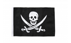 Flagge mit Hohlsaum Pirat mit zwei Schwertern