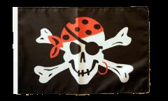 Flagge mit Hohlsaum Pirat one eyed Jack