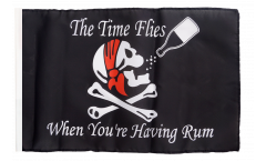 Flagge Pirat The Time Flies When You are Having Rum - 30 x 45 cm