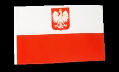 Flagge mit Hohlsaum Polen mit Adler