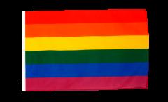 Flagge mit Hohlsaum Regenbogen
