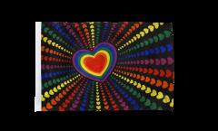 Flagge mit Hohlsaum Regenbogen Liebe