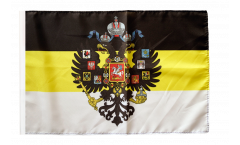 Flagge Russland Romanow mit Wappen 1858-1883 - 30 x 45 cm