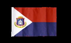 Flagge mit Hohlsaum Saint-Martin