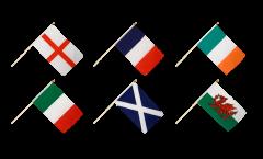 Stockflaggen Set Six Nations Turnier - 30 x 45 cm