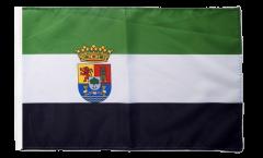 Flagge mit Hohlsaum Spanien Extremadura