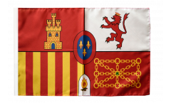 Flagge mit Hohlsaum Spanien Royal