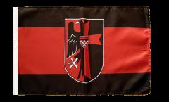 Flagge Sudetenland mit Wappen - 30 x 45 cm
