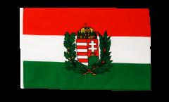 Flagge Ungarn mit Wappen - 30 x 45 cm