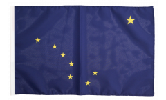Flagge mit Hohlsaum USA Alaska