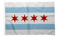 Flagge mit Hohlsaum USA City of Chicago